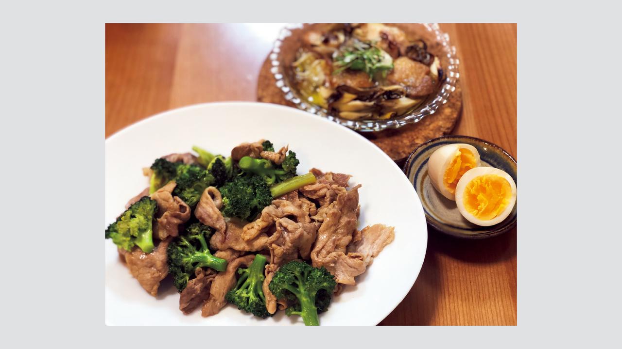 タンパク質を多めに摂取。炭水化物は昼までに摂取して、夜は摂らないようにしている。