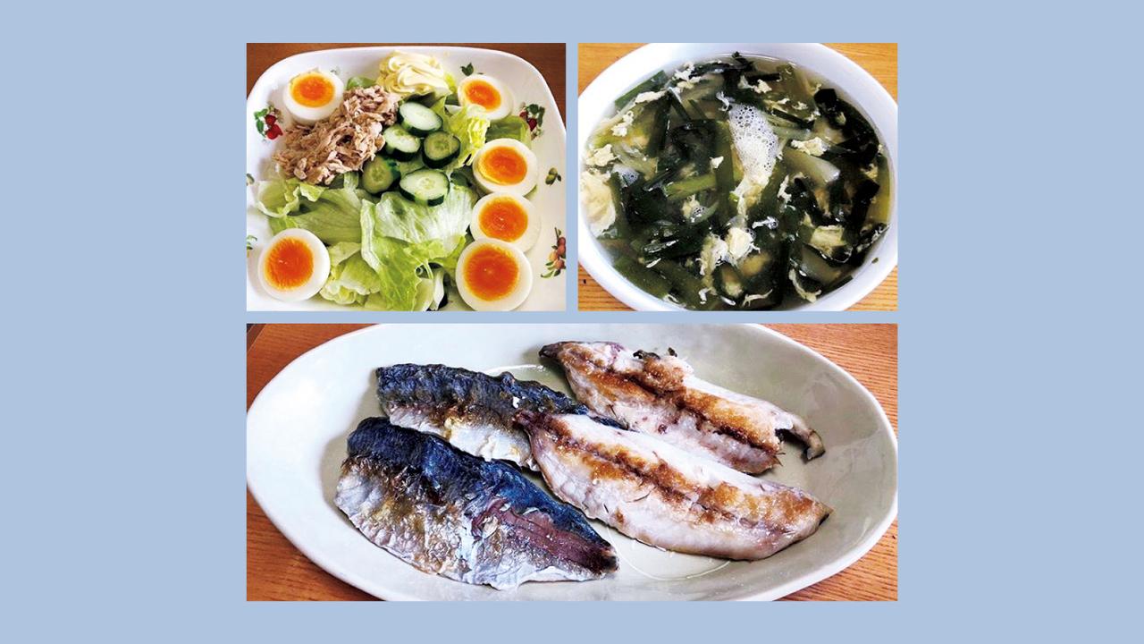 1日3食の主食を抜いて、タンパク質と野菜中心の食事に。