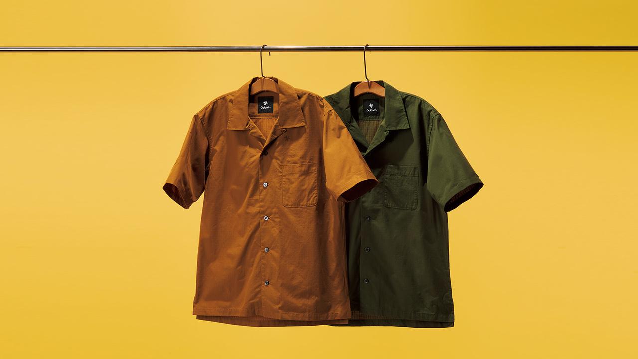 ゴールドウインのオープンカラーシャツ