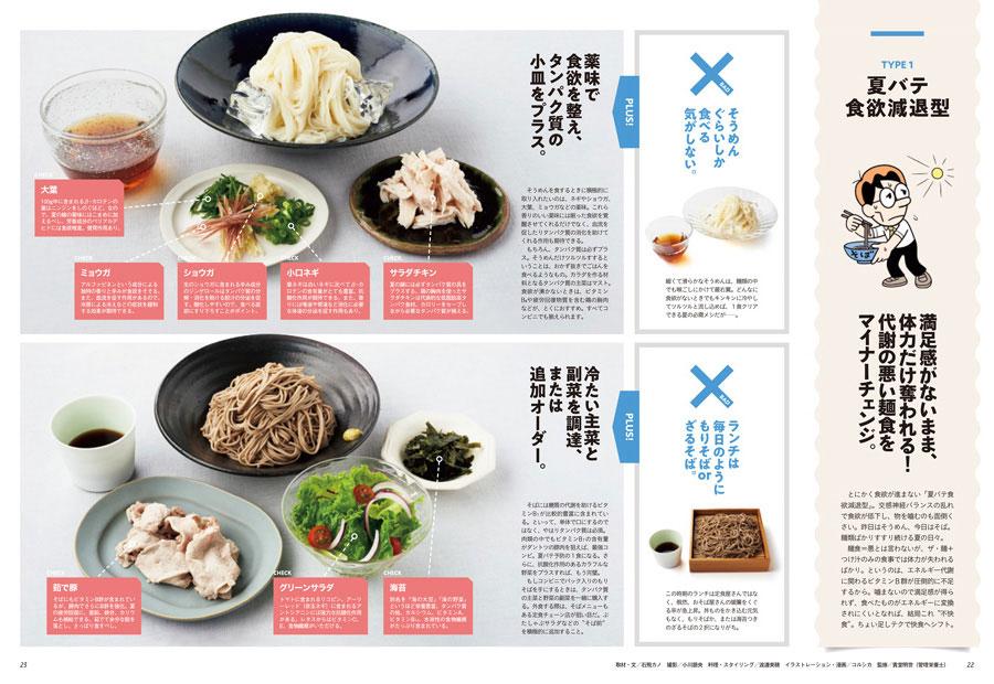 食欲のメカニズムを理解したところで実践編。(1)食欲減退型、(2)高スタミナ食過剰型、(3)食習慣乱れ型、(4)「別腹」要注意型の4つのタイプ別に対処法を紹介していきます。