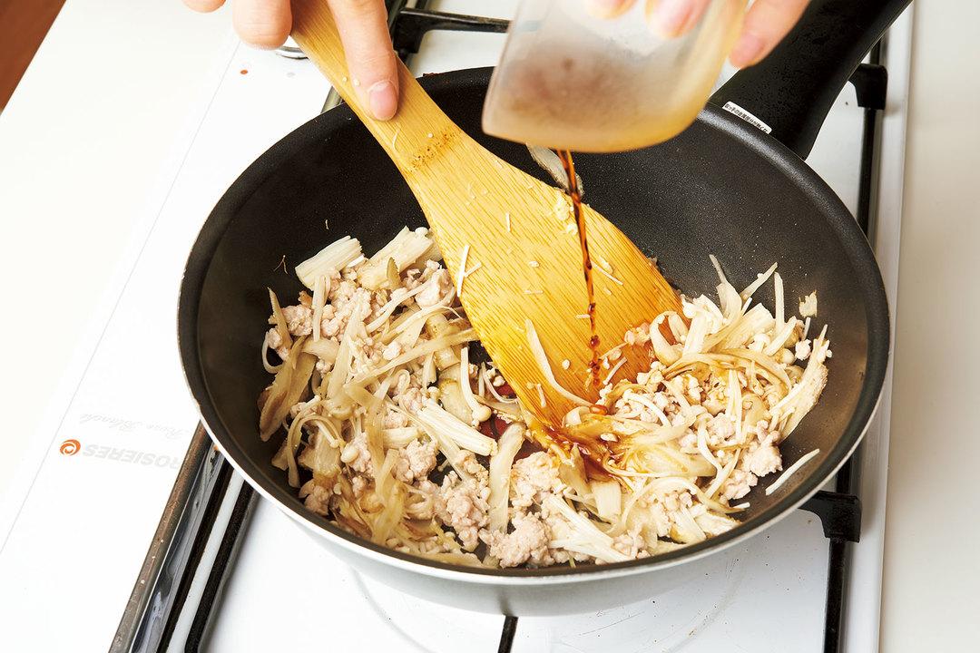 鶏とゴボウの山椒炒め