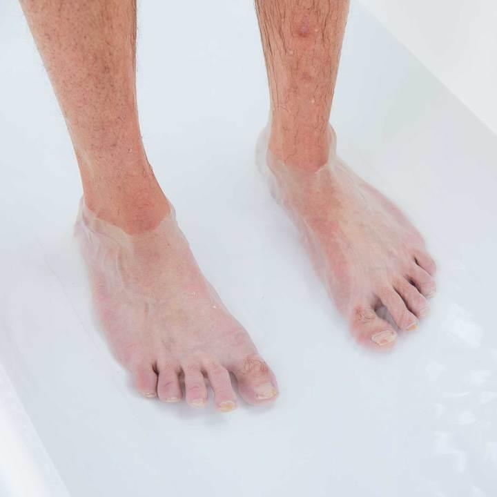 せっかちさんにお薦めなのは、シャワー浴の間の足湯