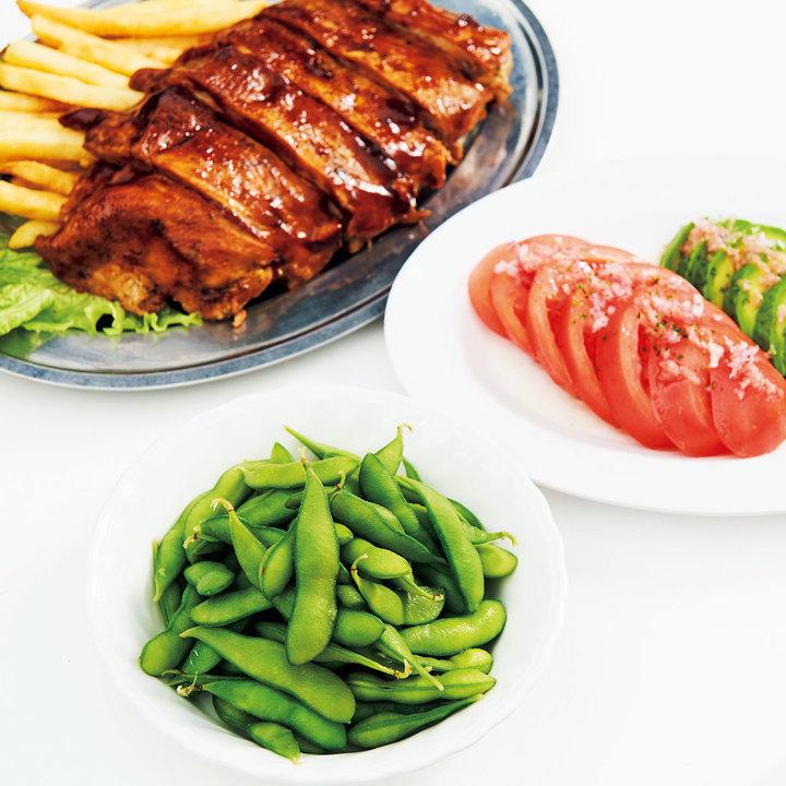 肝臓を元気にする最強の酒のつまみは枝豆に豚肉、トマト。