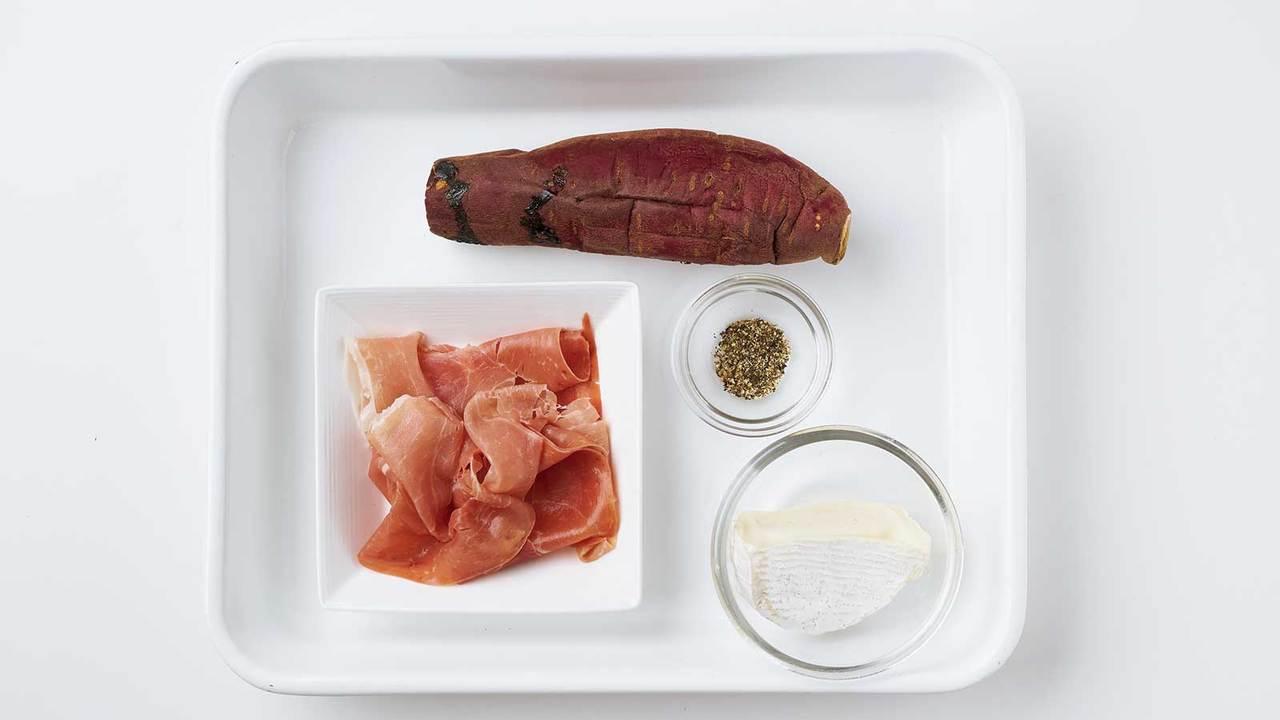 冷やし焼き芋のジャンボンフロマージュサンド