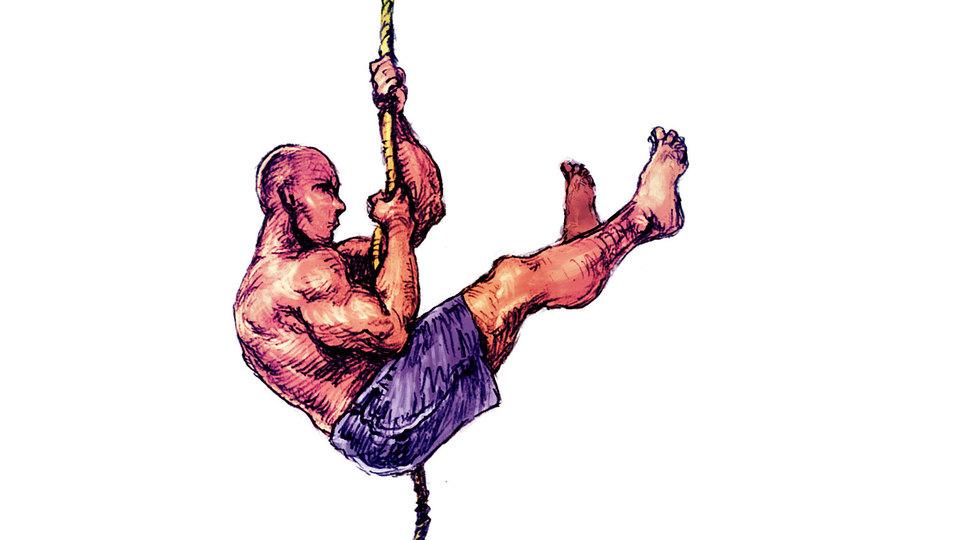 レスリングの選手はなぜロープを登るか?