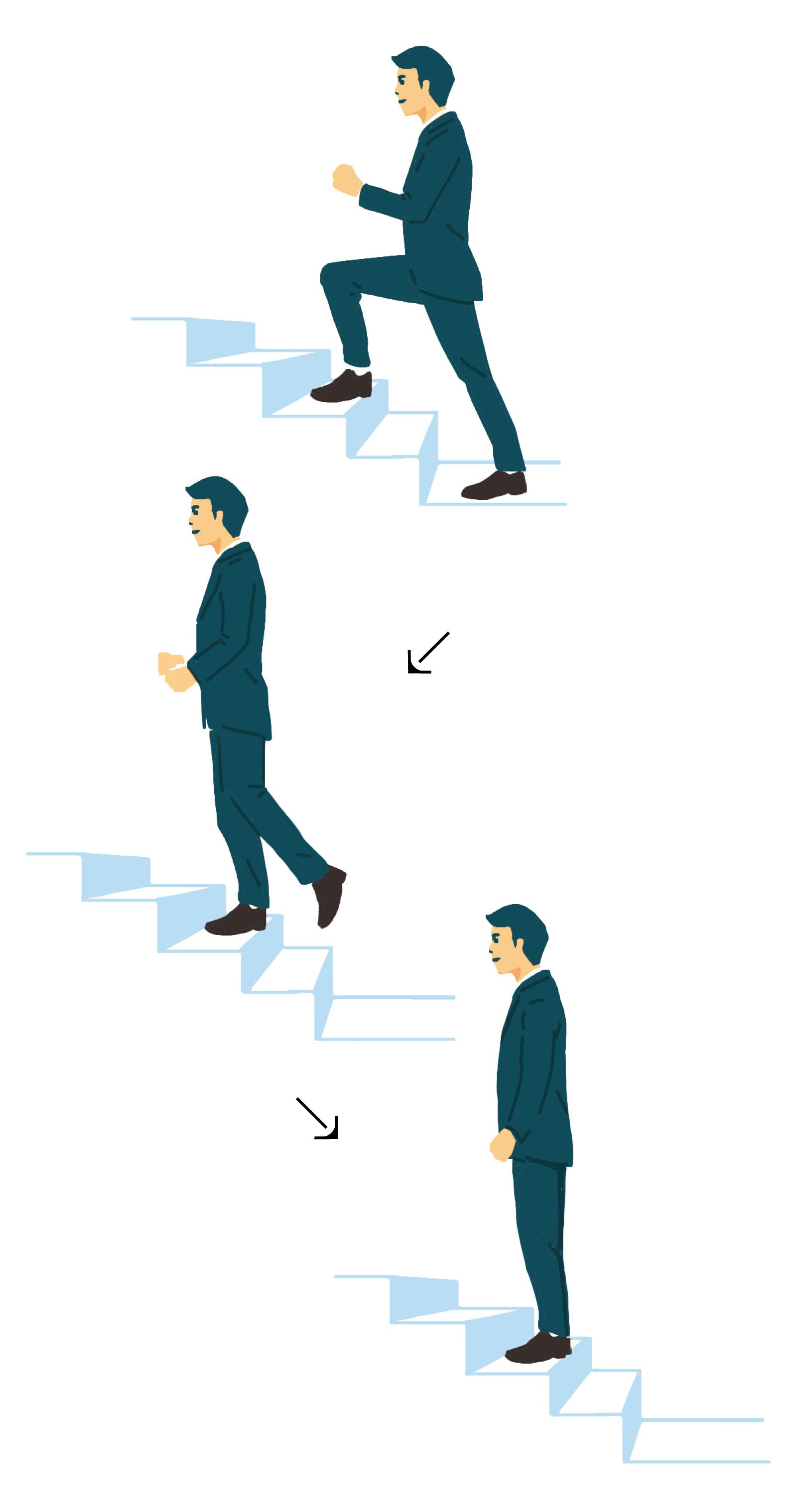 階段を上りながらトレ