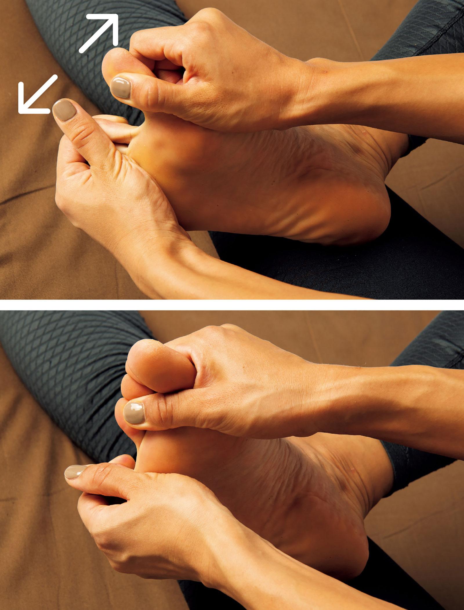 座禅のやり方。足指を開く