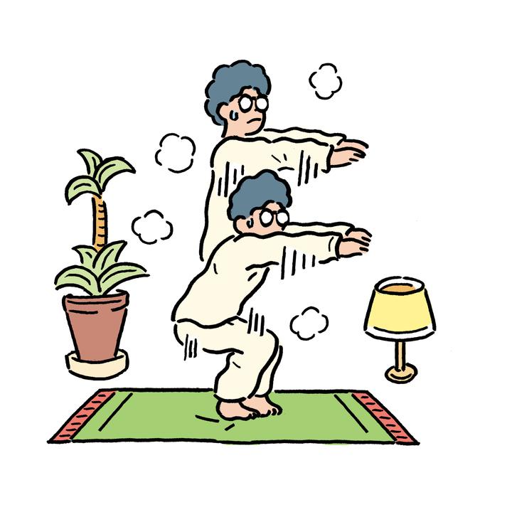 ゴロゴロしないで日中に簡単な運動をする。