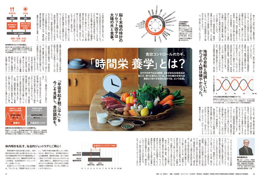 """ターザン776号掲載の『食欲コントロールのカギ、""""時間栄養学""""とは?』企画"""