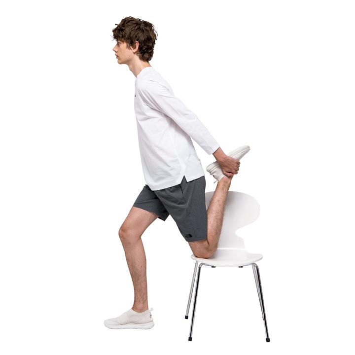大腿四頭筋、腸腰筋、広背筋、外・内腹斜筋