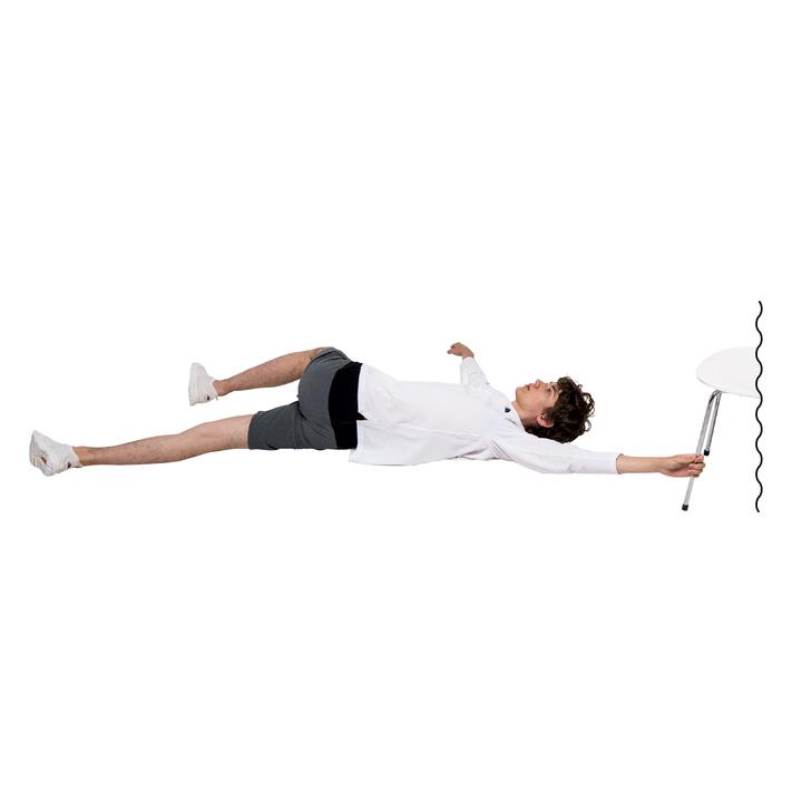 脊柱起立筋下部、腰方形筋、中臀筋、広背筋、大胸筋