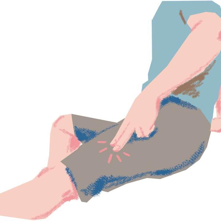 太腿(大腿筋膜張筋)