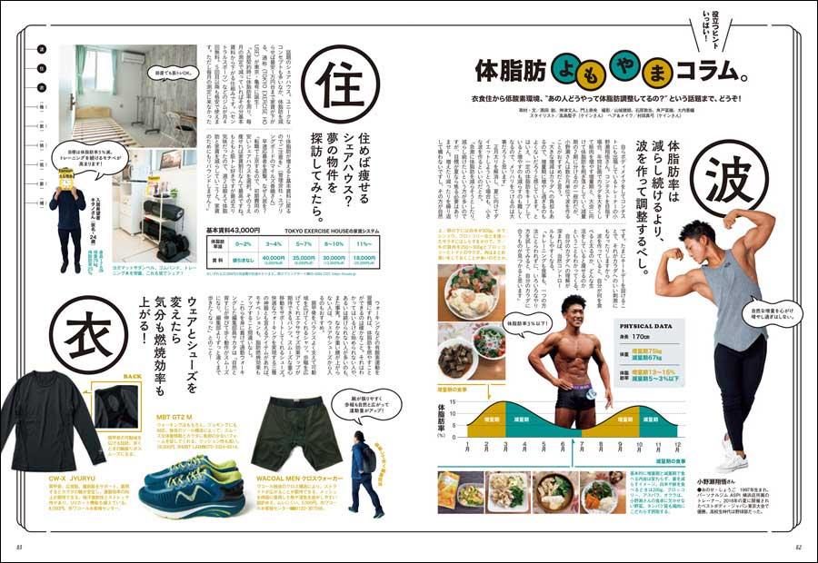 """779号には『体脂肪よもやまコラム』も掲載中! 衣食住から低酸素環境、""""あの人どうやって体脂肪調整してるの?""""という話題まで、どうぞ!(本誌P82掲載)"""
