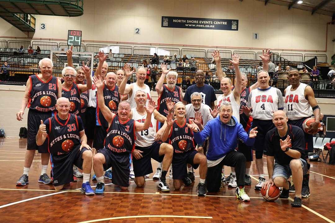 2017年大会の「バスケットボール」の記念撮影