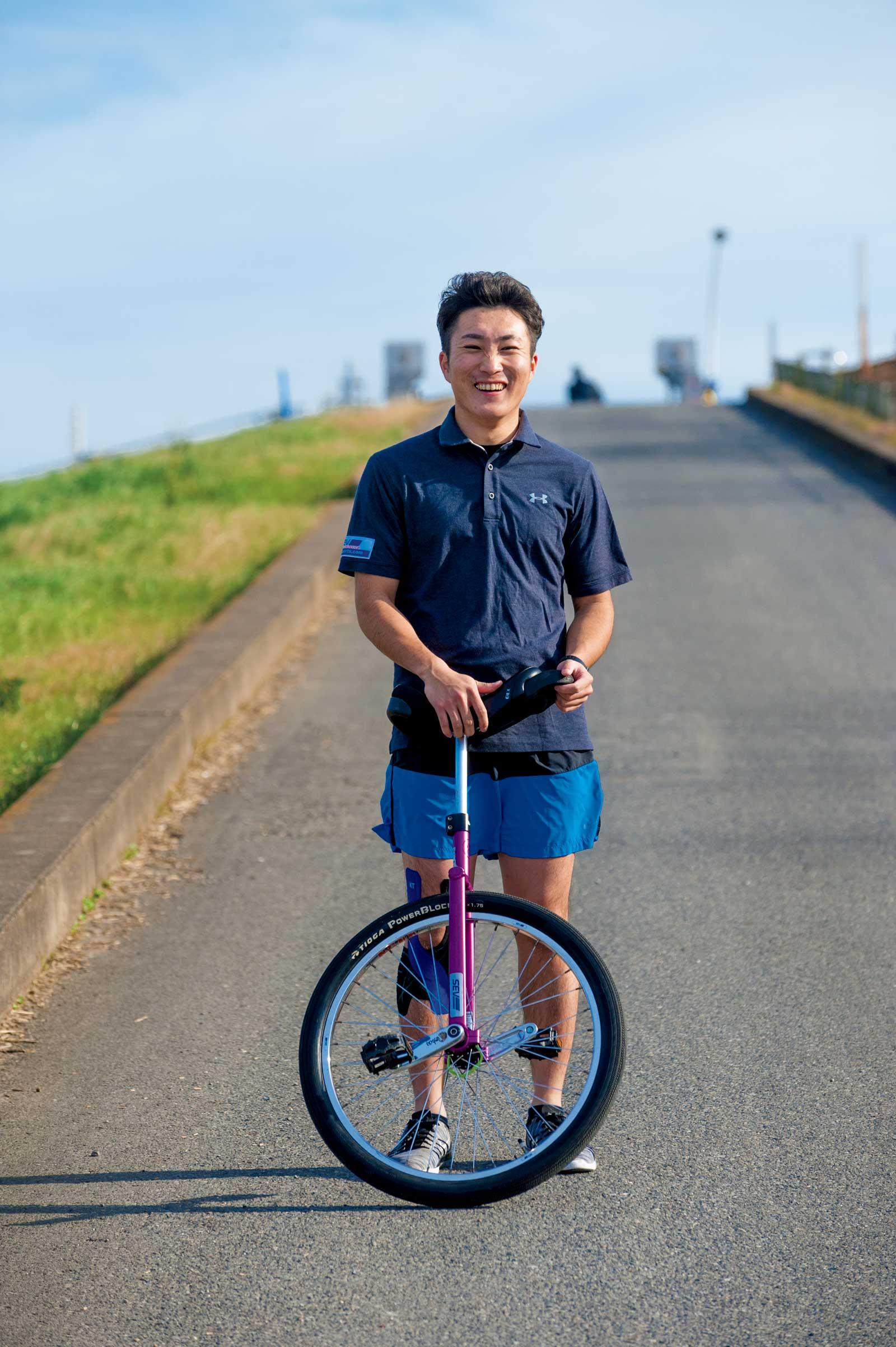 一輪車競技選手・阿部雄人