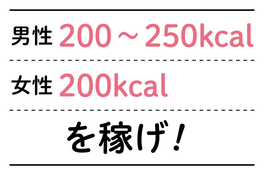 キロカロリー 消費 200